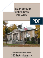 The Marlborough Public Library 1870 to 2010--In commemoration of the 350th Anniversary of the founding of Marlborough