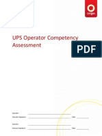 UPS Operator Competency Assessment v0.1 Question Sheet