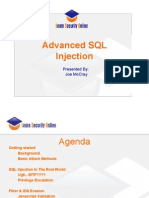Advanced SQL Injection Presented