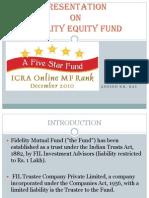 Fiedilty Presentation Equity Fund