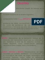diapositvas de disartria