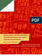 Analisis Indonesian Renactment