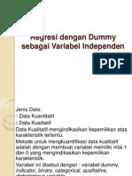 Regresi Dengan Dummy Sebagai Variabel In Depend En