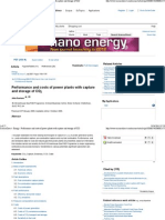 Science Direct - Energy _ Performance and Costs of Power Plants With Capture and Storage of CO2