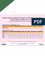 Dainik BhaskarTariff Details