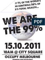 Occupy Melbourne - We are the 99%