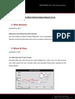Boletín mensual EE.UU. SEPTEMBER 2011 WINE INDUSTRY REPORT