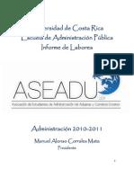 Informe de Labores ASEADU 2010-2011