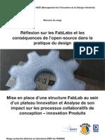 Réflexion sur les FabLabs et les conséquences de l'open-source dans la pratique du design