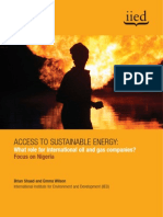 Access to Sustainable Energy