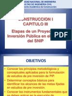 Construcion i - Cap III -Snip y Exp. Tecnico