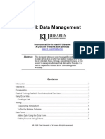 Excel 2003 Data-management