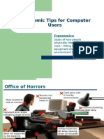 Ergonomic Tips for Computers Use