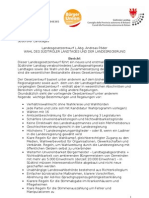 Landtagswahlgesetzentwurf der BürgerUnion