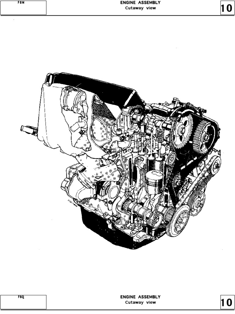 Cross section F8M F8Q engine repair (Motor diesel F8M F8Q