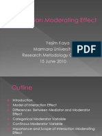 Interaction Moderating Effect
