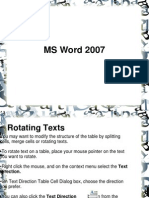 Presentation MS Word 2007