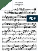 Haydn-Piano Sonate No.44