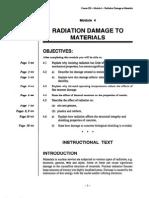 Radiation Damage to Materials