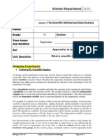 The Scientific Method and Data AnalysisYr11