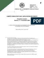 L'APPLICATION DES DROITS DE PROPRIETE INTELLECTUELLE - UNE PERSPECTIVE ECONOMIQUE