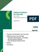 City Hall Options Presentation Sept28 2011