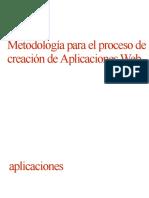 Metodologia Para Creacion de Aplicaciones Web