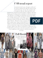 Fall 2008 Trend Report