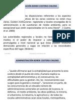 Esquema Administrativo y Funciones en Borde Costero Del Litoral Chileno