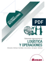 Tríptico Diplomado Internacional en Logística y Operaciones