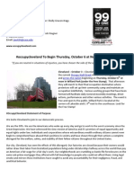 Occupy Cleveland | Press Release | For Immediate Distrobutution