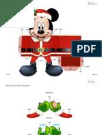 Caixa Mickey de Natal