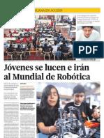 Jóvenes se lucen e irán al mundial de robótica