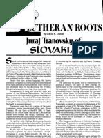 Tranovsky of Slovakia LW 1980