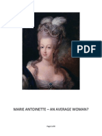 Marie Antoinette - An Average Woman?