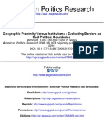 American Politics Research Geographic Proximity Versus Institutions Evaluating Borders As