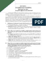 VV FF - Leccion 02 - Seguridad Eterna