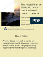 The feasibility of an electronic dental practice-based research network