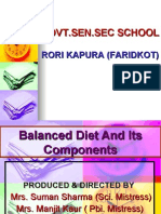 Balance Diet and Its Constituents_Rorrikapoora_Faridkot