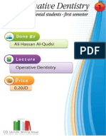Lecture 1, Operative Dentistry (Script)