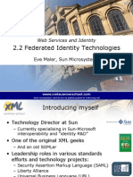 Web Services and Identity - Federated Identity Technology