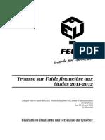 FR - Trousse sur l'aide financière aux études