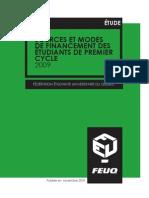 Fr - Sources et modes de financement des étudiants de premier cycle