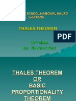 Thaless Theorem