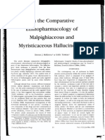 On the Comparative Ethnopharmacology of Malpighiaceous and Myristicaceous Hallucinogens