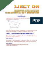 Types Properties of Quadrilaterals