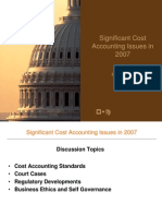 Significant Cost Accounting Issues