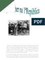 As mulheres na 1ª República trabalho