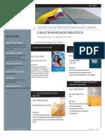 Boletin Novedades Bibliográficas CINUOctubre