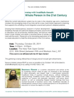 Educating the Whole Person in the 21st Century - Oct 20, 2011 (NYC)